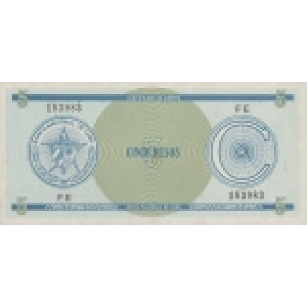 1985 - Cuba P-FX21 5 Pesos banknote