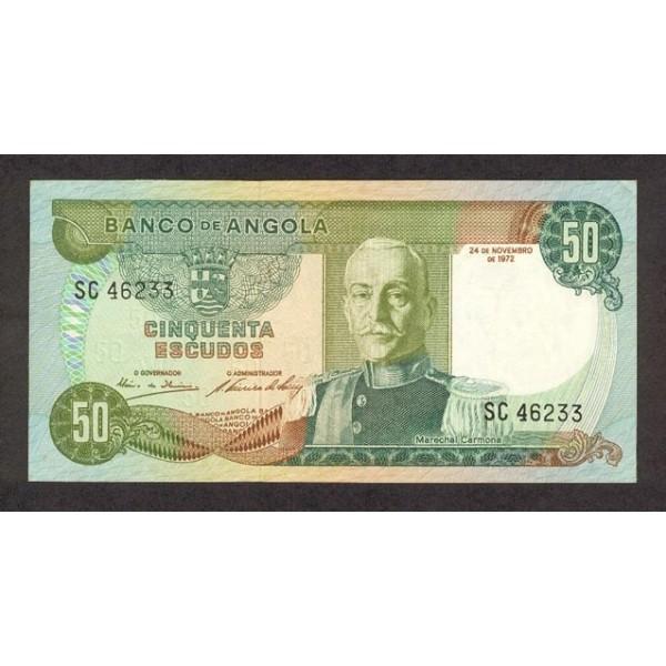 1972 - Angola  P100 Billete de 50 Escudos