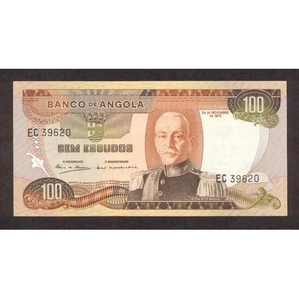 1972 - Angola  P101 Billete de 100 Escudos