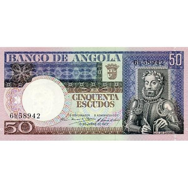 1973 - Angola  P105 Billete de 50 Escudos