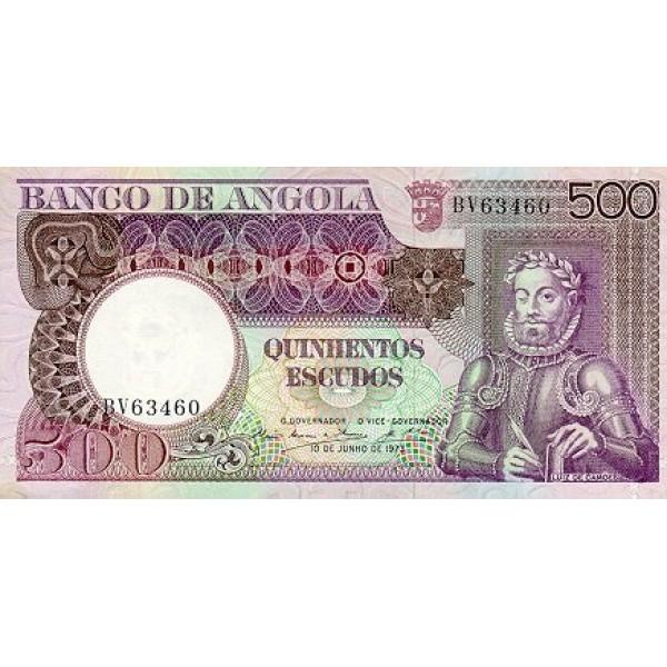 1973 - Angola  P107 Billete de 500 Escudos