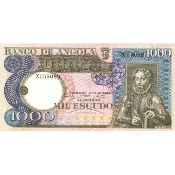 1973 - Angola  P108 Billete de 1000 Escudos