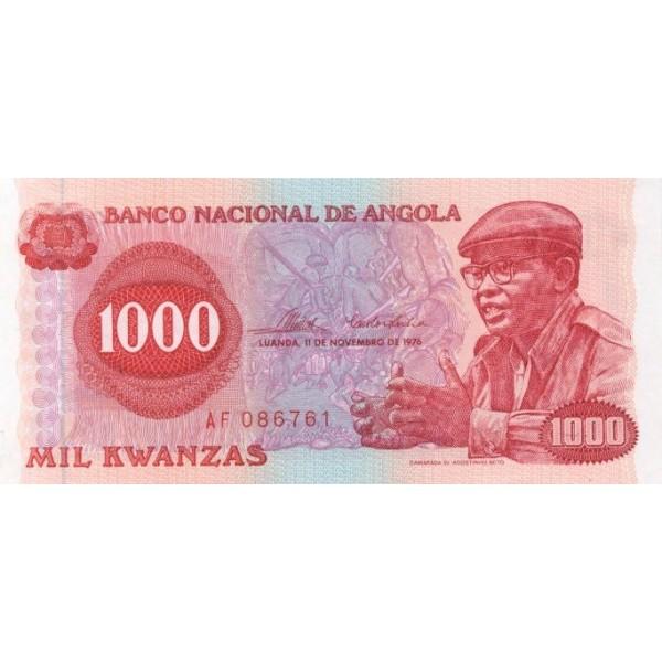 1976 - Angola P113 1000 Kwanzas banknote