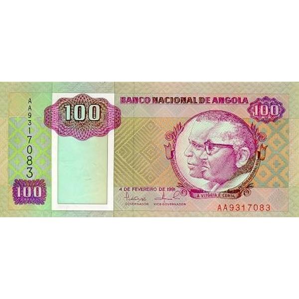 1991 - Angola  P126 Billete de 100 Kwanzas