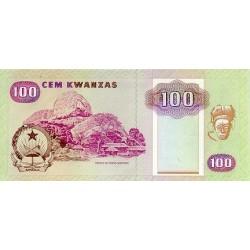 1991 - Angola P126 100 Kwanzas banknote