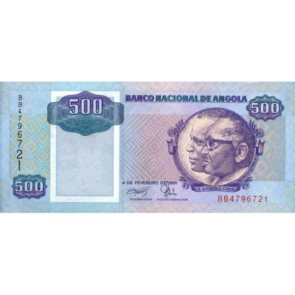 1991 - Angola  P128b Billete de 500 Kwanzas
