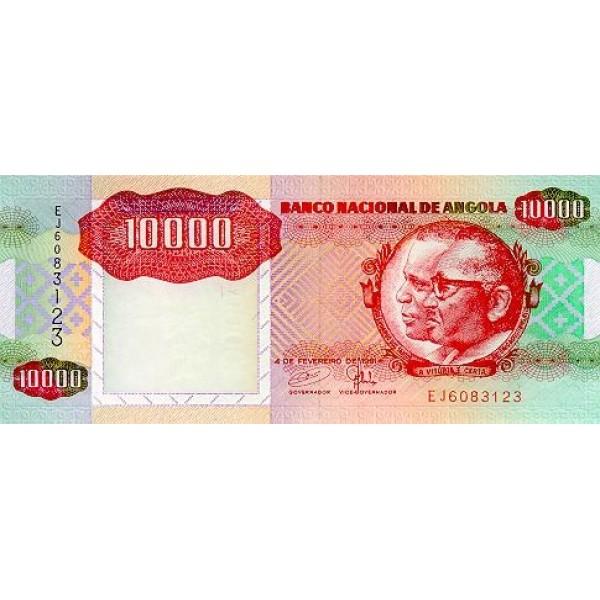 1991 - Angola P131b 10.000 Kwanzas banknote