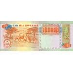 1991 - Angola PIC 133x ERROR billete de 100.000 Kwanzas