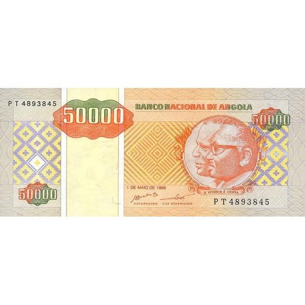 1995 - Angola  P138 Billete de 50.000 Kwanzas