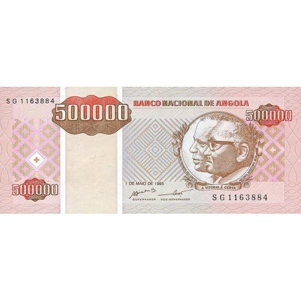 1999 - Angola  P140 Billete de 500.000 Kwanzas