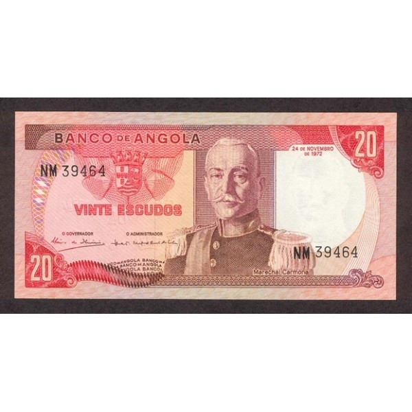 1972 - Angola  P99 Billete de 20 Escudos