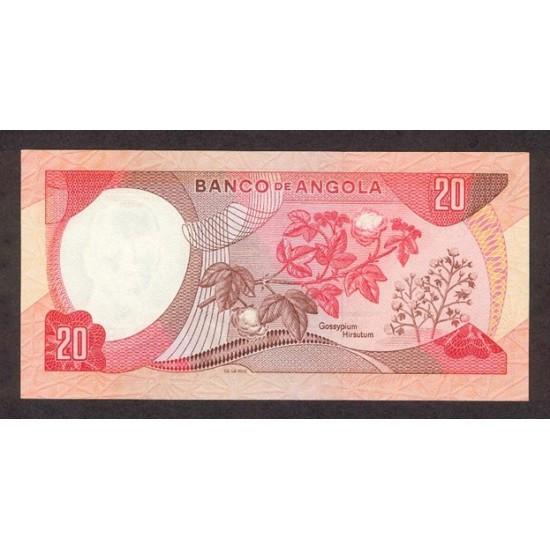 1972 - Angola P99 20 Escudos banknote