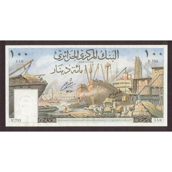 1964 -  Argelia Pic 125a  billete de 100 Dinars