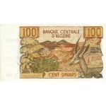 1970 -  Argelia Pic 128b  billete de 100 Dinars