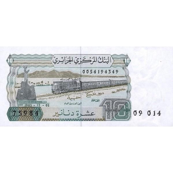 1983 -  Argelia Pic 132  billete de 10 Dinars