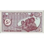 1967 -Biafra PIC 1      5 Shillings  banknote