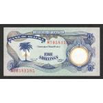 1968/69 -Biafra PIC 3a     billete de  5 Shillings