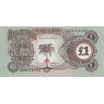 1968/69 - Biafra p5 billete de 1 Libra