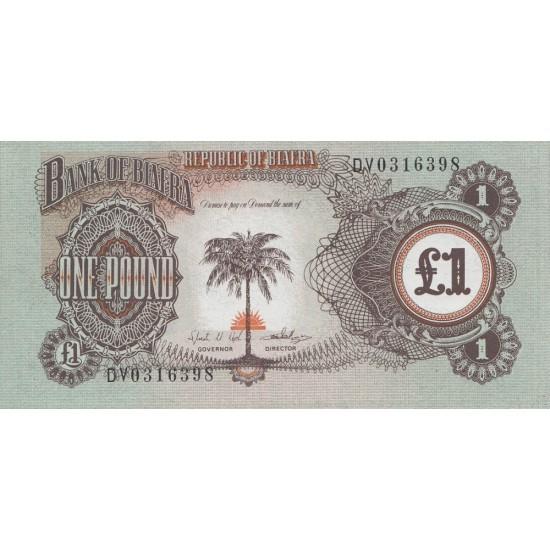 1968/69 -Biafra p5   1Pound  banknote