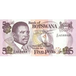 1992 - Boswana PIC 11    5 Pulas banknote