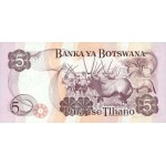 1992 -  Boswana PIC 11   billete de 5 Pulas