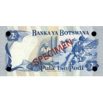 1979 -  Boswana PIC 2s   billete de 2 Pulas Especimen