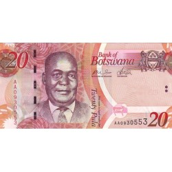 2009 - Boswana PIC 31a   20 Pulas banknote