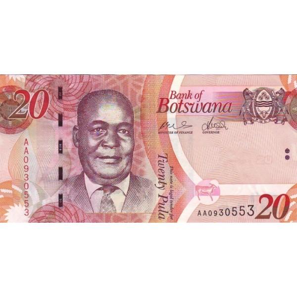 2009 -  Boswana PIC 31a   billete de 20 Pulas