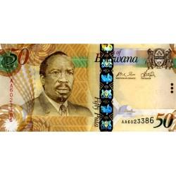 2009 - Boswana PIC 32   50 Pulas banknote