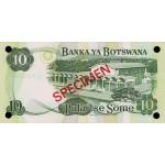 1979 -  Boswana PIC 4as    10 Pulas Banknote Specimen