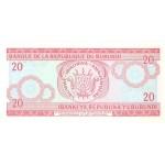 1997 -Burundi PIC 27d billete de  20 Francos