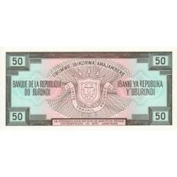 1991 - Burundi  PIC 28c    50 Francs banknote