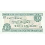 1991 - Burundi  PIC 33b    10 Francs banknote