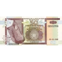 1999 - Burundi  PIC 36b   50 Francs banknote