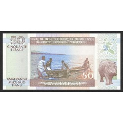 1994 - Burundi  PIC 36a   50 Francs banknote