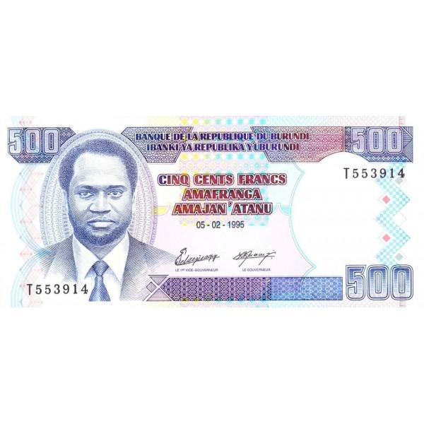 1996 -Burundi PIC 37A billete de  100 Francos