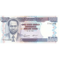 1993 - Burundi  PIC 37a   100 Francs banknote