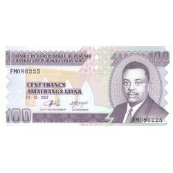 1997 - Burundi  PIC 37b  100 Francs banknote