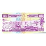 2001 -Burundi PIC 37c billete de  100 Francos