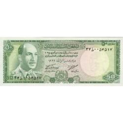 1967 - Afganistan Pic 43  50 Afghanis notebank