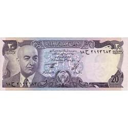 1973 - Afganistan Pic 48  20 Afghanis notebank