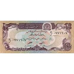 1979 - Afganistan Pic 56 20 Afghanis notebank
