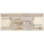 2002 - Afganistan Pic 66  5 Afghanis  notebank