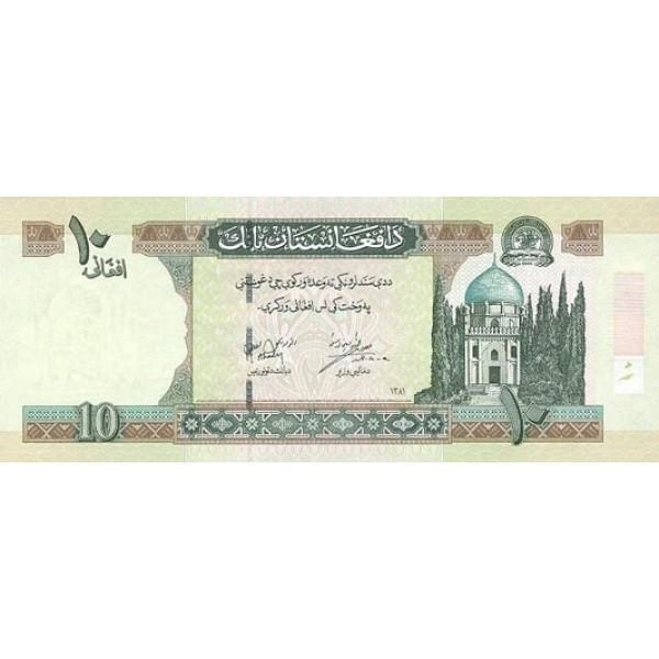 2002 - Afganistan Pic 67 10 Afghanis notebank