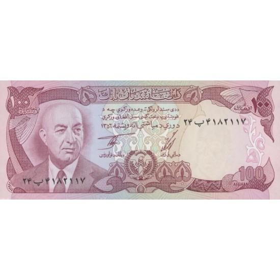 1977 - Afganistan Pic 50c  100 Afghanis notebank