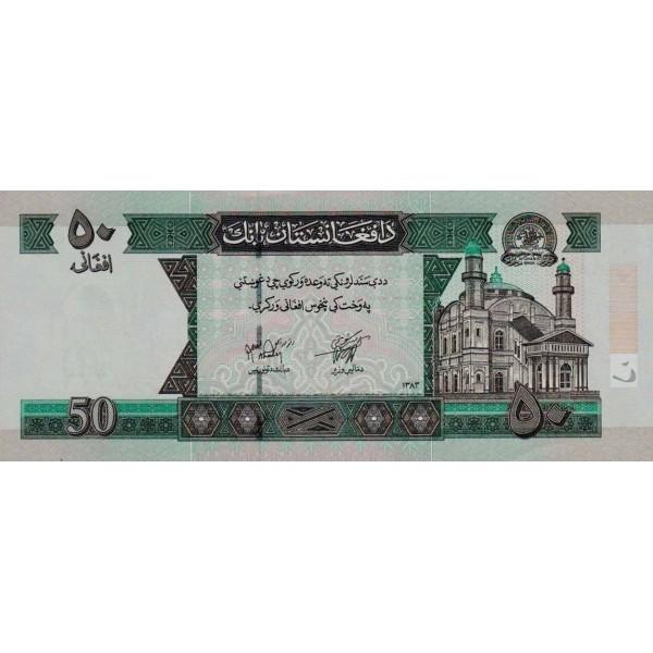 2004 - Afganistan Pic 69b 50 Afghanis notebank