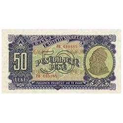 1957 - Albania P29 50 Leke notebank
