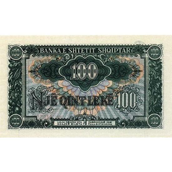 1957 - Albania P30a 100 Leke notebank