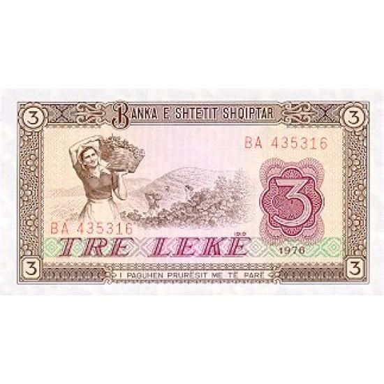 1976 - Albania P41 3 Leke notebank