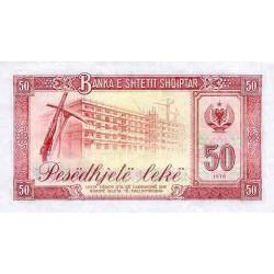 1976 -  Albania P45 50 Leke banknote